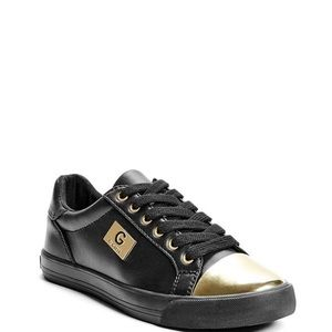Guess Woman's Black and Gold sneakers